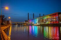 Wolfsburg Mittellandkanal und Autostadt mit Kraftwerk von Jens L. Heinrich