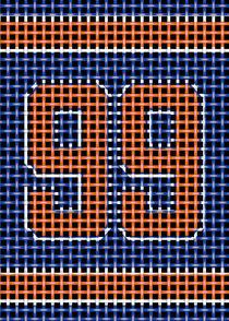 Blue Orange 99 Texture by William Rossin