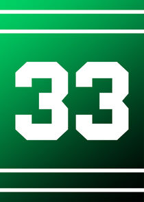 Shining Number 33 Green and White by William Rossin