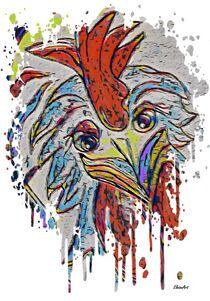Rooster Color Splash by eloiseart