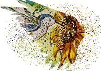 Hummingbird on the Wing von eloiseart