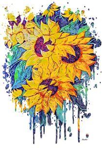 Sunflower Splash by eloiseart