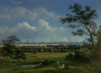 A View of Regent's Park and the Colosseum from Primrose Hill von John Knox
