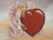 Engel ewige Liebe - Engelkunst von Marita Zacharias