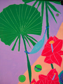 RELAXATION IN PARADISE, detail by Rosie Jackson