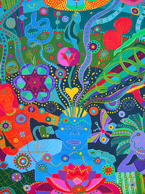 12 DISCIPLES DISCOVER THE DIVINE WITHIN, detail by Rosie Jackson