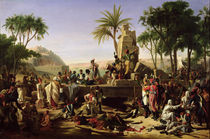 Troops halted on the Banks of the Nile von Jean-Charles Tardieu