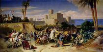 The Taking of Beirut by the Crusaders in 1197 by Alexandre-Jean-Baptiste Hesse