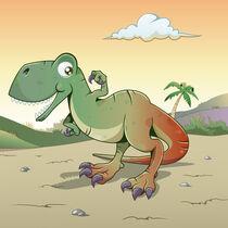 Funny Tyrannosaurus Rex von William Rossin