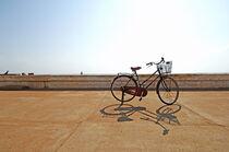 Parked bike Pondicherry by Nayan Sthankiya