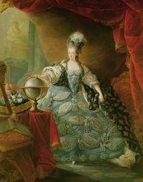 Portrait of Marie Antoinette  by Jean-Baptiste Andre Gautier D'Agoty