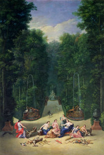 The Groves of Versailles: View of the Maze with Diana and her Nymphs by Jean the Younger Cotelle