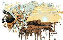 Giraffe in the Sun by eloiseart
