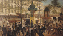 Study for a panorama of the Boulevard de Montmartre von Andre Gill