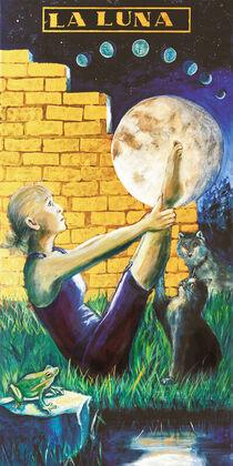 Visconti-Tarot - Der Mond - LA LUNA von Ulla Schönhense
