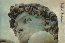 David von Michelangelo digital gemalt. von Marie Luise Strohmenger