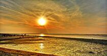Sonnenuntergang im Watt von Edgar Schermaul
