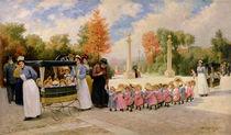 Promenade des Enfants  von Timoleon Marie Lobrichon