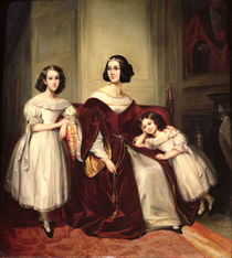 Madame de Nonjon and her Two Daughters by Joseph Nicolas Jouy