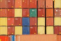 Container im Duisburger Hafen (7-76342) von Franz Walter Photoart