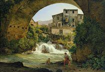 Under the arch of a bridge in Italy von Joseph Rebell
