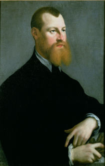 Portrait of a man with a ginger beard by Jan Stephen Calcar