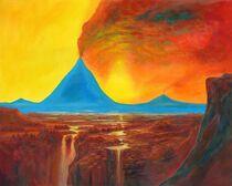 blue vulcano / Blauer-Vulkan von artdemo