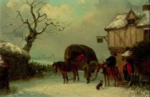 A Wayside Rest - Stopping at the Inn  by Thomas Smythe