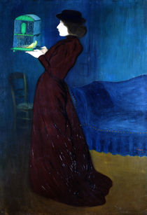 Woman with a Bird Cage  by Jozsef Rippl-Ronai