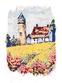 Lighthouse and Flowers by eloiseart