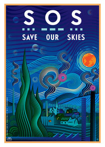 S O S  Save Our Skies by Maarten Rijnen