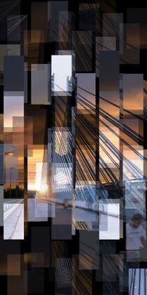 Werksbrücke West (Höchst) - Goldene Stunde von Stefan Zimmermann