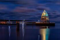 Hafen von Juist bei Nacht von Dirk Rüter