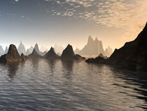 Golden Sunrise On Mars by Phil Perkins