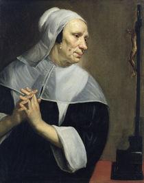 Old Woman Praying  by Jacob van Oost