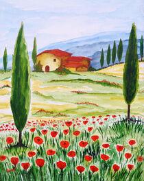 Bluehender Mohn in der Toskana/Blühender Mohn in der Toskana von Christine Huwer