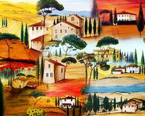 Toskana Collage von Christine Huwer