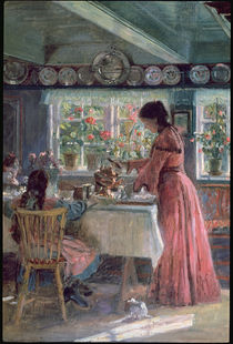 Pouring the Morning Coffee von Laurits Regner Tuxen