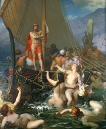 Ulysses and the Sirens  von Leon-Auguste-Adolphe Belly