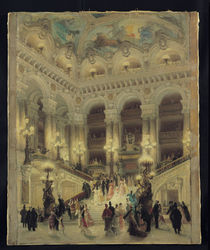 The Staircase of the Opera von Louis Beroud