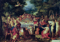 The Banquet of the Gods  by Hendrik van the Elder Balen