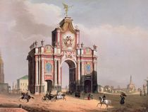 The Red Gate in Moscow by Louis Jules Arnout
