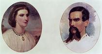 The Marriage Portrait of Richard Burton  von Louis Lesanges