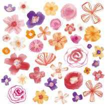 Fresh Watercolor Wildflowers von Nic Squirrell
