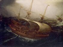 Dutch Battleship in a Storm  von Hendrick Cornelisz. Vroom