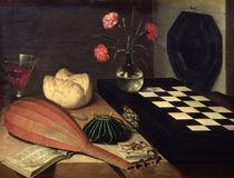 Still Life with Chess-board von Lubin Baugin