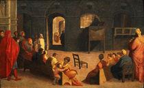 St Bernardino of Siena Preaching  by Domenico Beccafumi