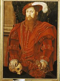 Portrait of a Gentleman of the English Court von Hans Eworth or Ewoutsz