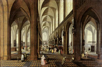 Interior of Antwerp Cathedral by Pieter the Younger Neeffs