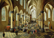 Figures gathered in a Church Interior von Pieter the Younger Neeffs